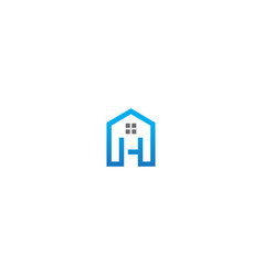 home h initial realty logo vector image