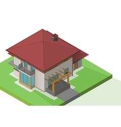 House suburban exterior isometric vector