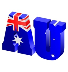Internet top-level domain of australia vector