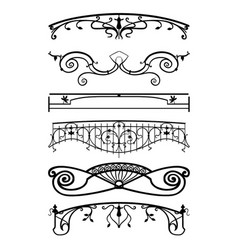 Ironwork balconies vector