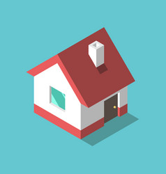 isometric house flat design vector image
