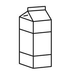juice pack icon outline style vector image