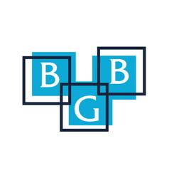 letter bgb modern icon vector image