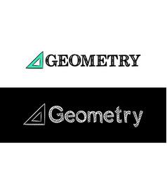 logo for geometry school subject vector image