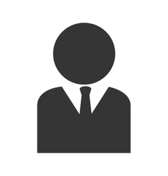 man suit business icon graphic vector image