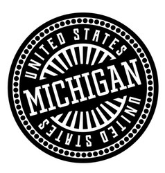 Michigan black and white badge vector