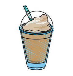 Milkshake and whipped cream design vector