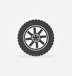 modern car wheel icon or logo element vector image