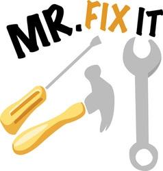 Mr Fix It vector