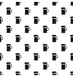 Mug of beer pattern simple style vector image