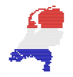 Netherlands map and flag vector image