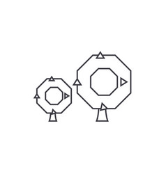 oak tree thin line icon concept oak tree linear vector image