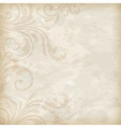Old floral background vector