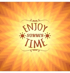 Orange sunny background with text eps10 vector image