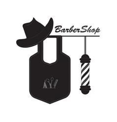 Outdoor sign barbershop vector