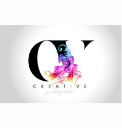 Ov vibrant creative leter logo design vector