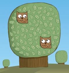 Owls platonic love vector