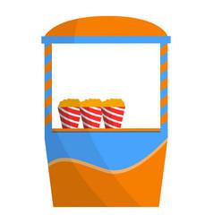 Pop corn kiosk icon cartoon style vector