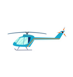 private helicopter isolated icon vector image
