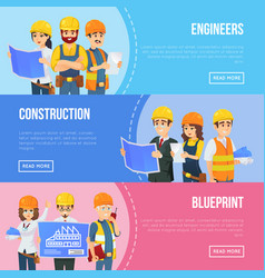 Professional engineering and construction concept vector