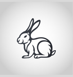 Rabbit logo icon vector