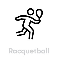 racquetball sport icon vector image