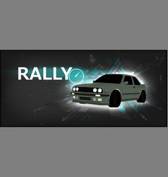 Rally poster detailed sports car vector