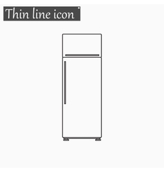 refrigerator Style thin line vector image