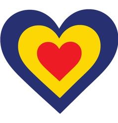 Romania Heart vector image