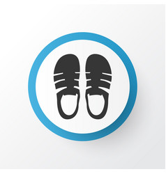 sandal icon symbol premium quality isolated vector image