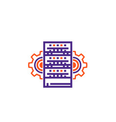 Server hosting administration icon vector