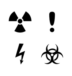 Set of black warning signs vector image