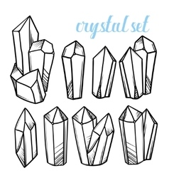 Set of magic crystals Icons of mineral vector image