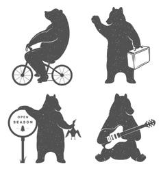 Sign Fun Bears vector