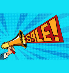 speaker megaphone sale text vector image