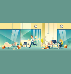 stressed entrepreneurs in office cartoon vector image