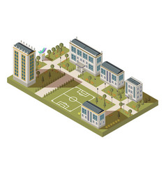 student quarter isometric landscape vector image