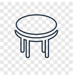 table concept linear icon isolated on transparent vector image