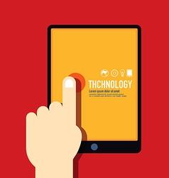 technology template modern minimal flat design vector image