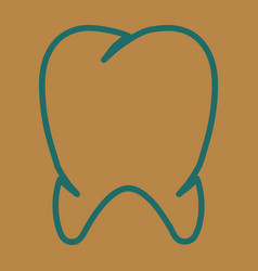 Teeth icon dentist flat tooth for mobile user vector