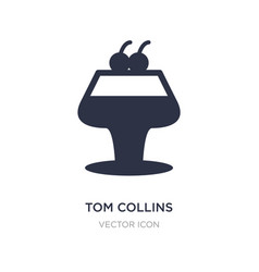 Tom collins icon on white background simple vector
