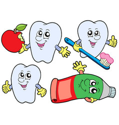tooth collection 2 vector image