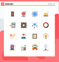 universal icon symbols group 16 modern flat vector image