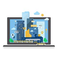 Urban landscape in flat design vector