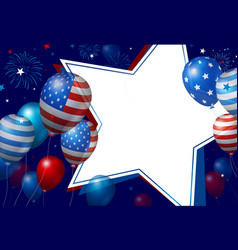 usa banner design vector image