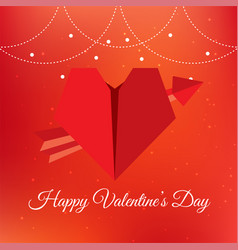 Valentine day red arrow heart image vector