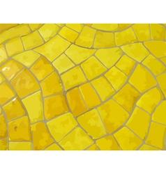 Glazed yellow stone mosaic texture vector image vector image