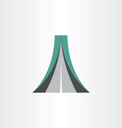 highway icon abstract design element vector image vector image