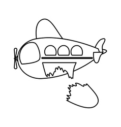 Isolated toy airplane damaged design vector image vector image
