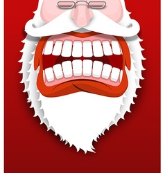 Aggressive Santa Claus shouts Unhappy Santa with vector image vector image